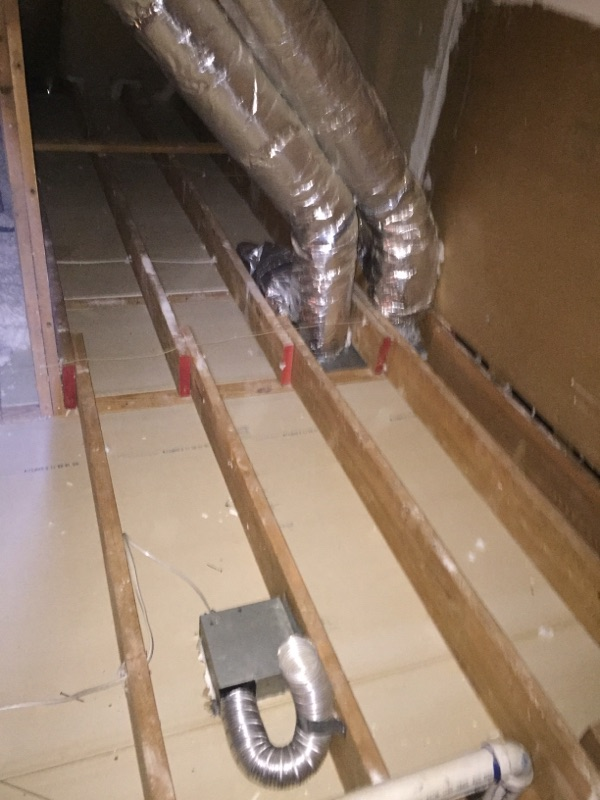 attic soiled insulation removed