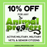 10% Discount to Active Military, Military Vets, and Senior Citizens.